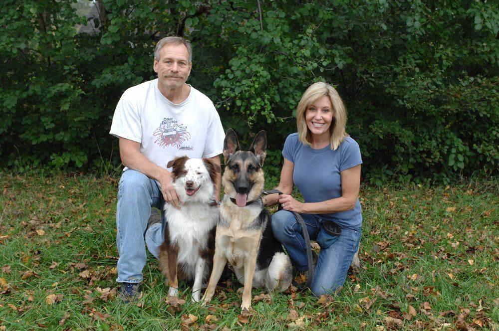 Beautiful dog family