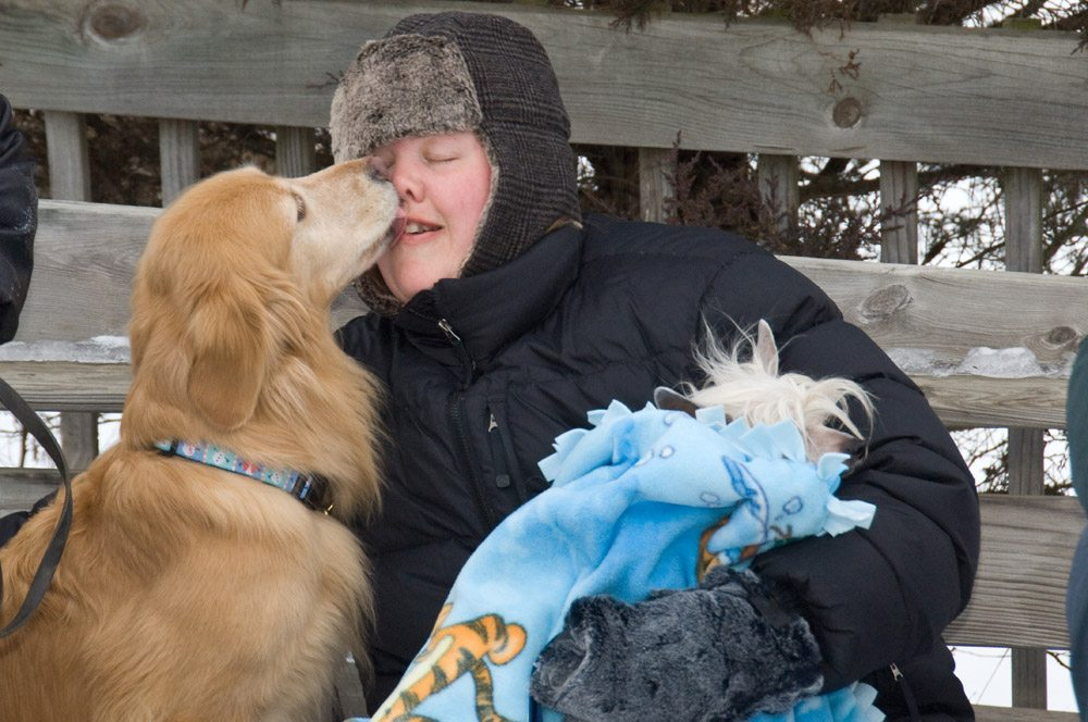 Winter Dog Kisses