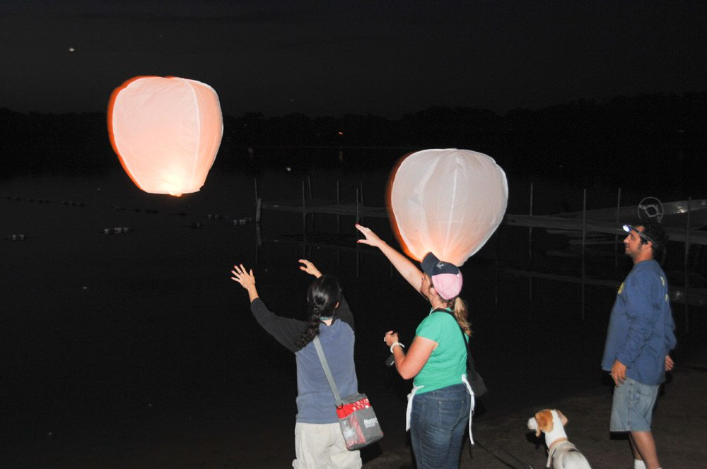 sky lantern dogs